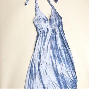 Boston Proper tie dye maxi halter dress. Size 4